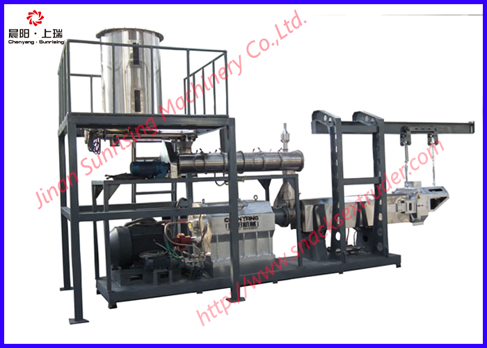 CY-85 twin screw extrusion food snacks machine