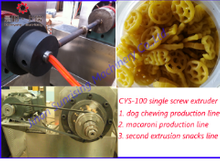 CYS-100 Single screw extruder extrusion food snack machine