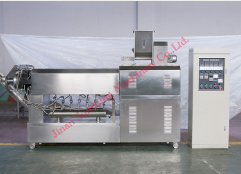 Single extruder extrusion food snack machine